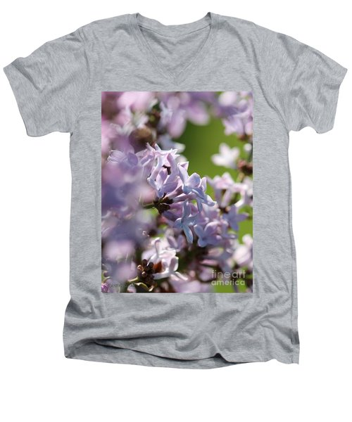Common Purple Lilac Men's V-Neck T-Shirt