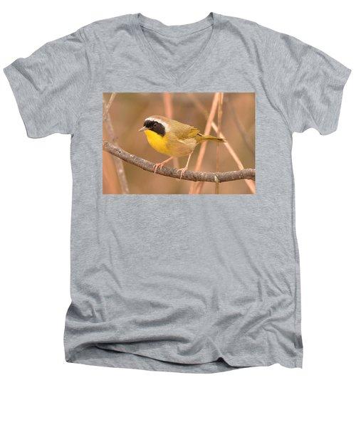 Common Yellow-throat Men's V-Neck T-Shirt by Alan Lenk