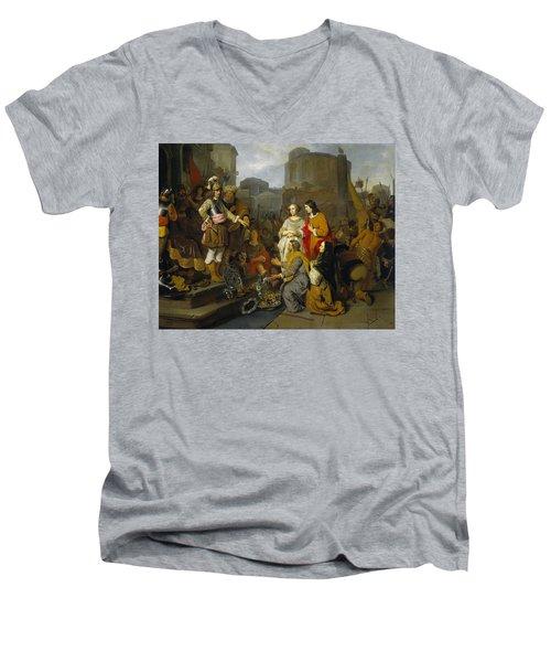 Continence Of Scipio Men's V-Neck T-Shirt