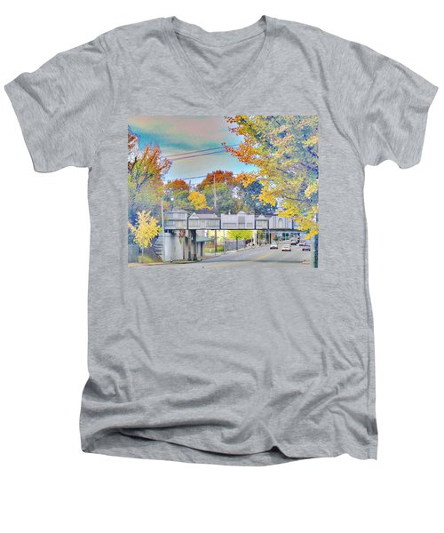 Cooper Young Trestle Men's V-Neck T-Shirt by Lizi Beard-Ward