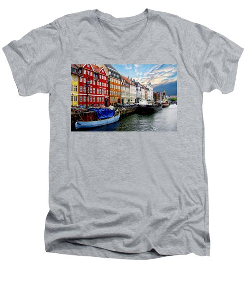 Copenhagen - Denmark Men's V-Neck T-Shirt