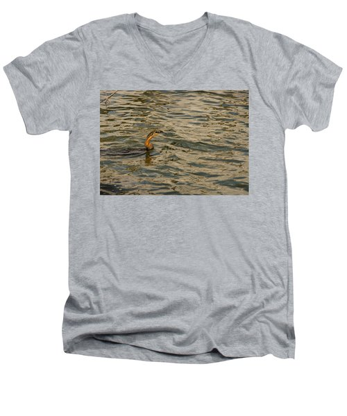 Caught Men's V-Neck T-Shirt by Patrick Kain