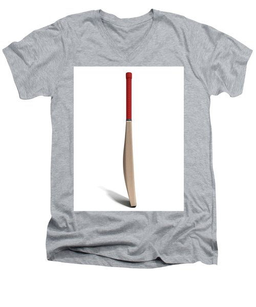 Cricket Bat Men's V-Neck T-Shirt by Allan Swart