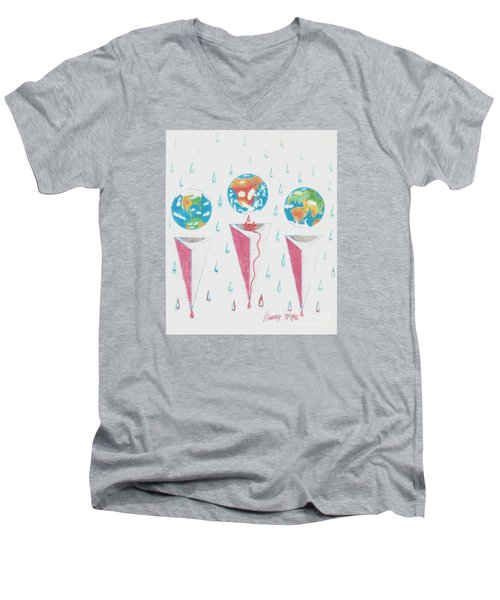 Africa Bleeds Cupable Countries Men's V-Neck T-Shirt by Rod Ismay