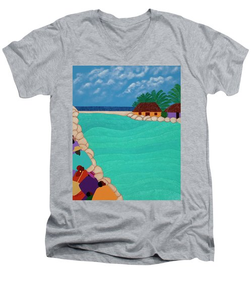 Curacao Lagoon Men's V-Neck T-Shirt