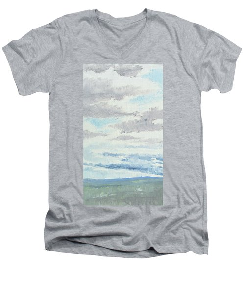 Dagrar Over Salenfjallen- Shifting Daylight Over Distant Horizon 9 Of 10_0029 Men's V-Neck T-Shirt