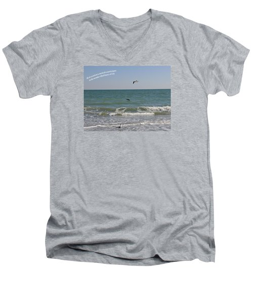 Dance Of Life Men's V-Neck T-Shirt by Rhonda McDougall