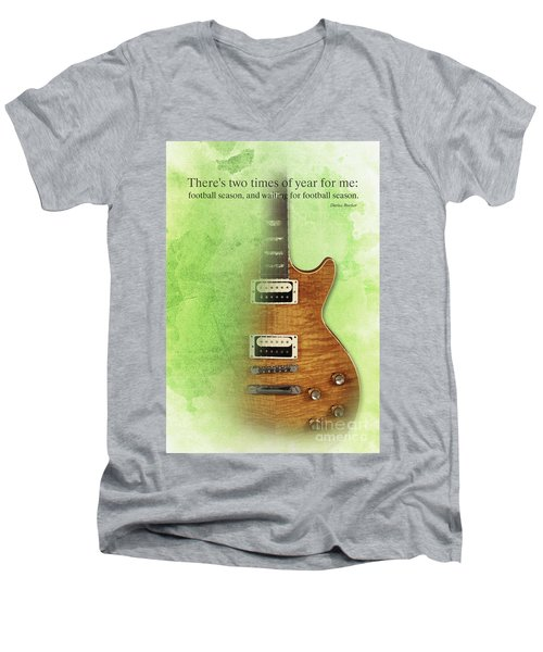 Darius Rucker Inspirational Quote, Electric Guitar Poster For Music Lovers And Musicians Men's V-Neck T-Shirt by Pablo Franchi