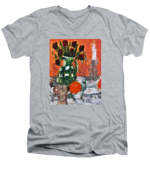 Dead Roses Men's V-Neck T-Shirt by Tamara Savchenko
