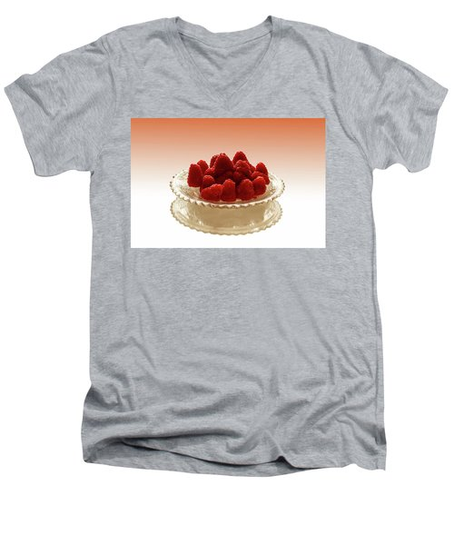 Delicious Raspberries Men's V-Neck T-Shirt