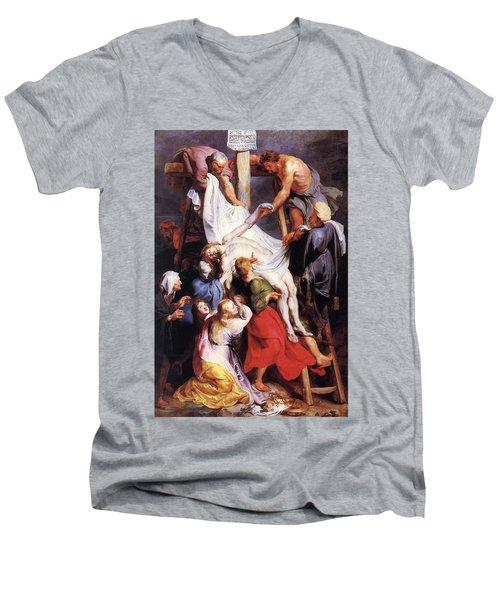 Descent From The Cross Men's V-Neck T-Shirt