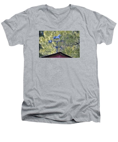 Men's V-Neck T-Shirt featuring the photograph Direction  by Juls Adams