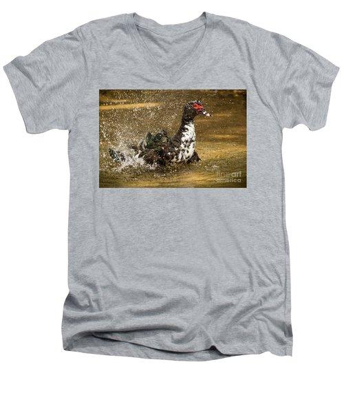 Does She See Me Yet? Wildlife Art By Kaylyn Franks Men's V-Neck T-Shirt