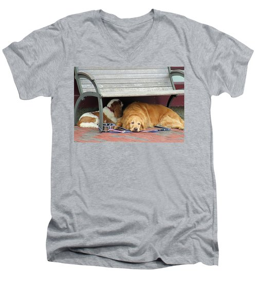 Dog Daze Men's V-Neck T-Shirt