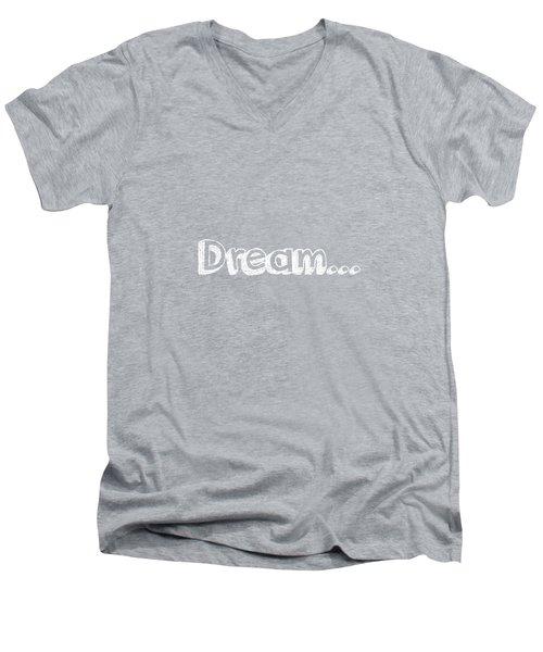 Dream Men's V-Neck T-Shirt by Inspired Arts