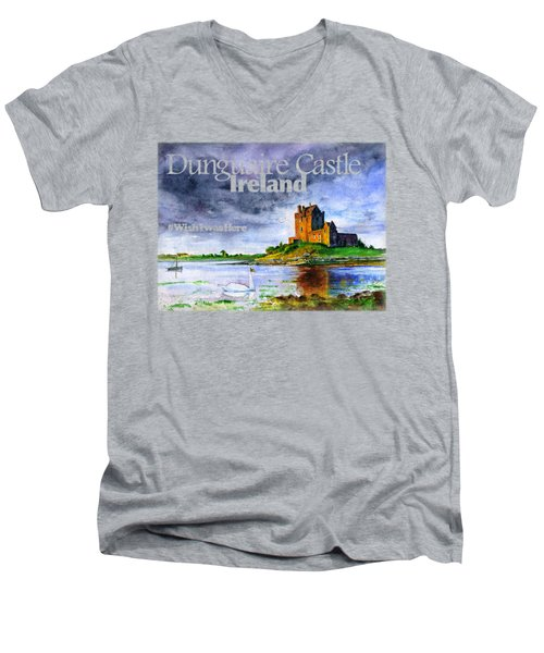 Dunguaire Castle Ireland Men's V-Neck T-Shirt