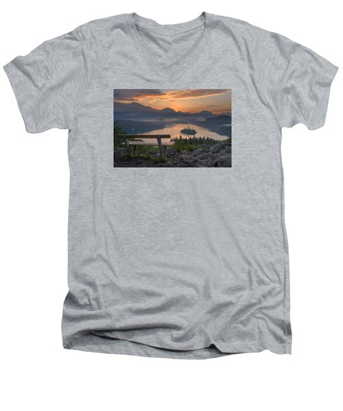 Early Morning Men's V-Neck T-Shirt by Robert Krajnc