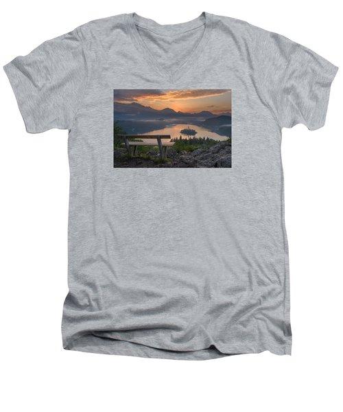 Early Morning Men's V-Neck T-Shirt