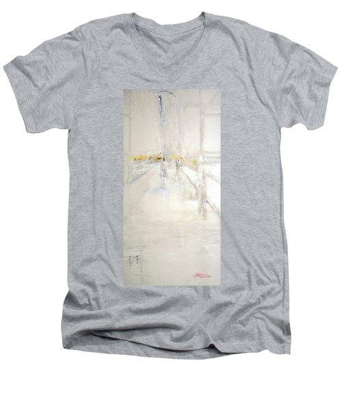 Early Winter In Manhattan Men's V-Neck T-Shirt