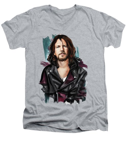 Eddie Vedder Men's V-Neck T-Shirt