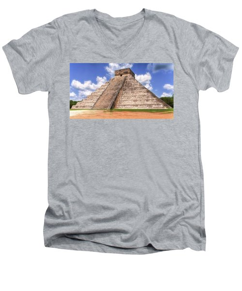 El Castillo Men's V-Neck T-Shirt