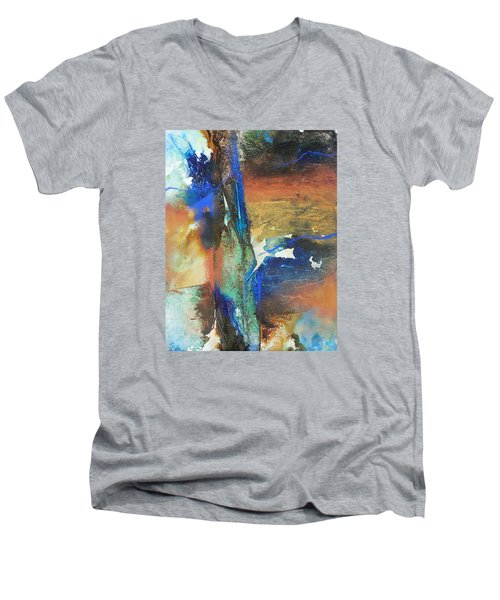 Electric And Warm Men's V-Neck T-Shirt by Becky Chappell