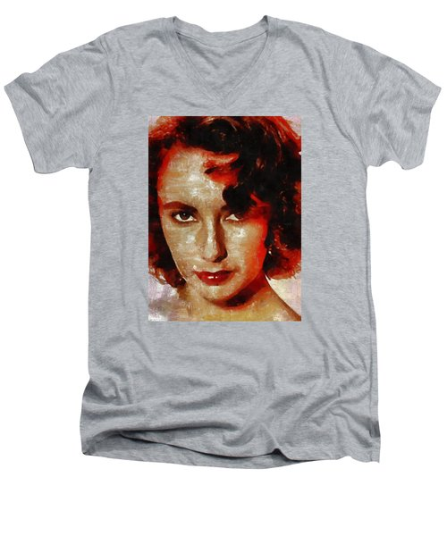 Elizabeth Taylor Men's V-Neck T-Shirt by Mary Bassett