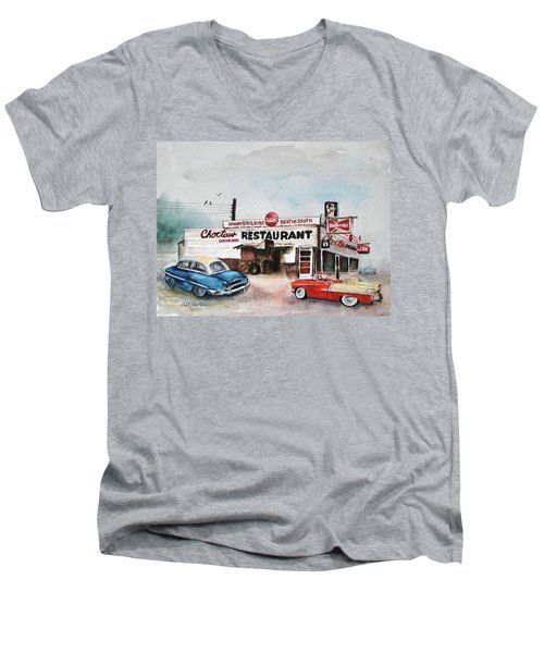 Elvis Has Left The Building. Men's V-Neck T-Shirt
