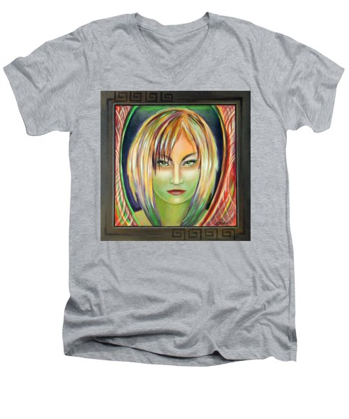 Emerald Girl Men's V-Neck T-Shirt