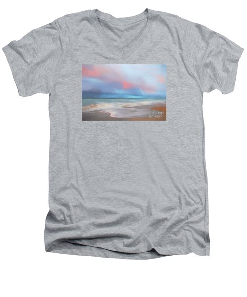 Men's V-Neck T-Shirt featuring the photograph Emerald Isle North Carolina by Mim White