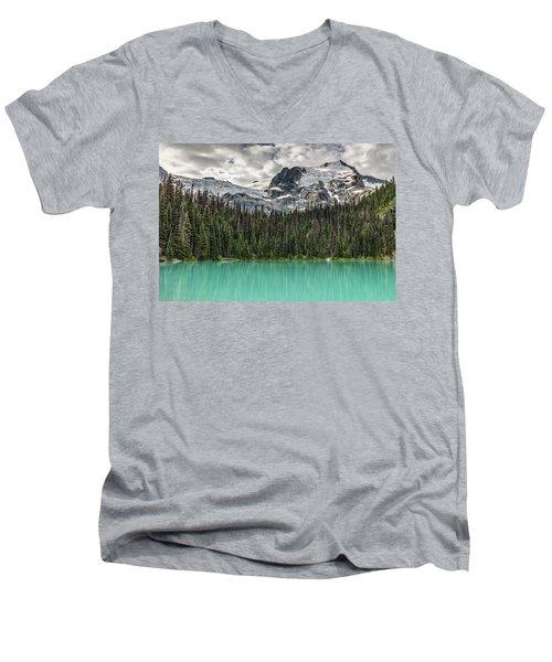 Emerald Reflection Men's V-Neck T-Shirt