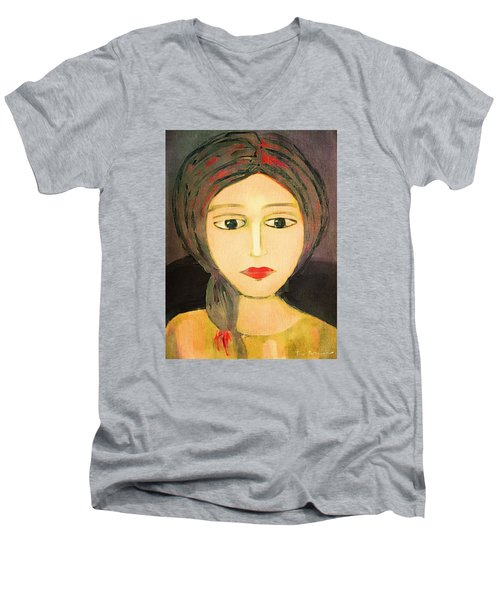 Emma Men's V-Neck T-Shirt by Lisa Noneman