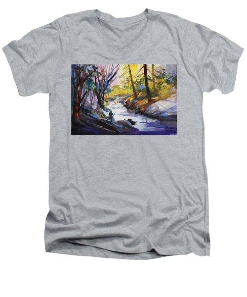 Enchanted Wilderness Men's V-Neck T-Shirt