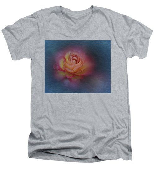 End Of September 2016 Rose Men's V-Neck T-Shirt by Richard Cummings