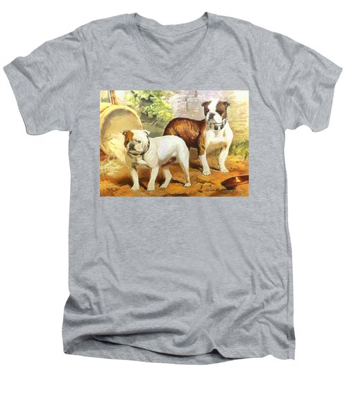 English Bulldogs Men's V-Neck T-Shirt