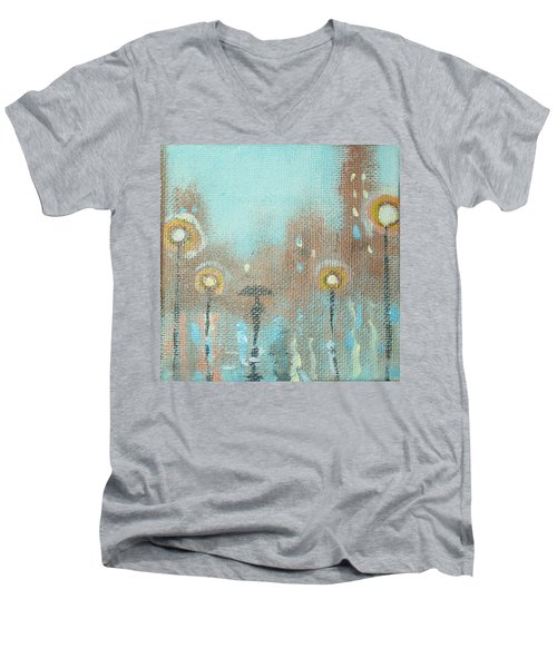 Evening Stroll Men's V-Neck T-Shirt by Raymond Doward