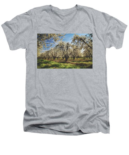 Men's V-Neck T-Shirt featuring the photograph Everything Is New Again by Laurie Search
