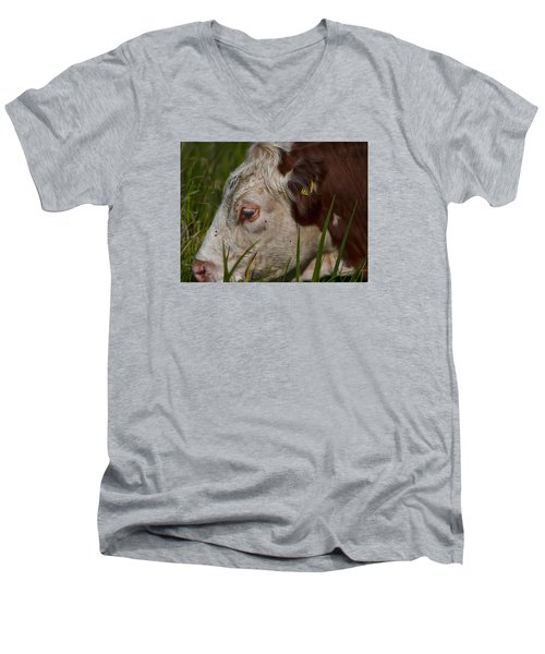 Men's V-Neck T-Shirt featuring the photograph Face by Leif Sohlman