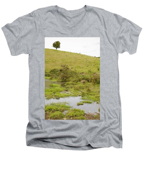 Men's V-Neck T-Shirt featuring the photograph Fairy Tree In Ireland by Ian Middleton