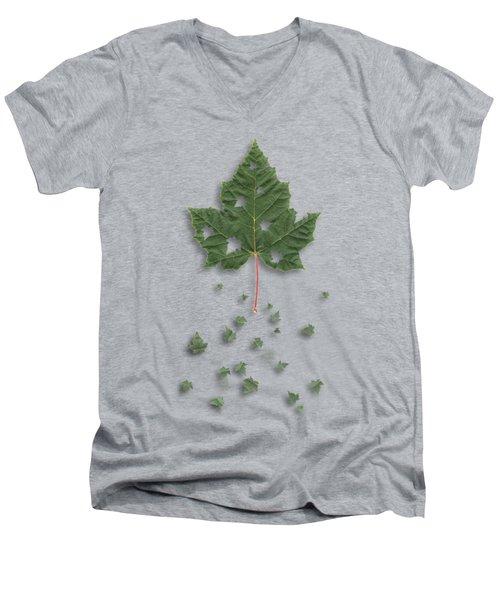 Fall Men's V-Neck T-Shirt by AugenWerk Susann Serfezi