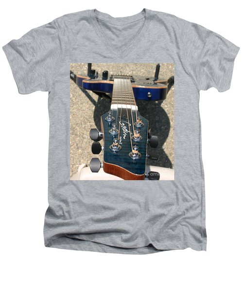 Men's V-Neck T-Shirt featuring the photograph Fall Melody by Marie Neder