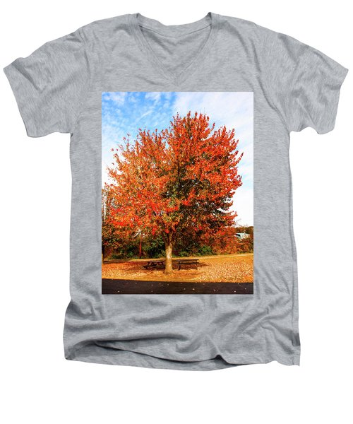 Fall Time Men's V-Neck T-Shirt