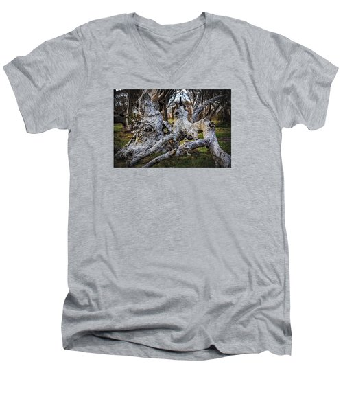 Fallen From Grace Men's V-Neck T-Shirt by Mark Lucey