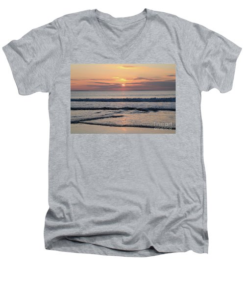 Fanore Sunset 2 Men's V-Neck T-Shirt