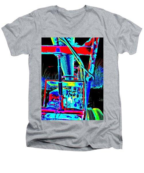 Feb 2016 35 Men's V-Neck T-Shirt by George Ramos