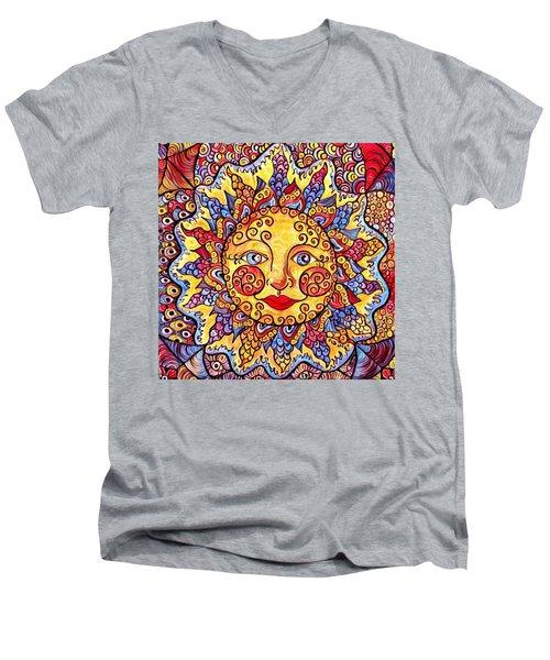 Fiesta Sun Men's V-Neck T-Shirt by Megan Walsh