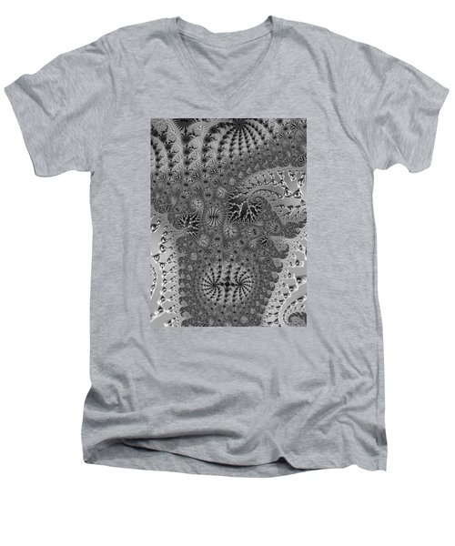 Filigree And Lace Men's V-Neck T-Shirt
