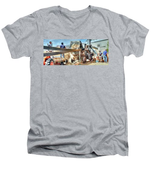 Filling The Sack 3485 Men's V-Neck T-Shirt by Jerry Sodorff