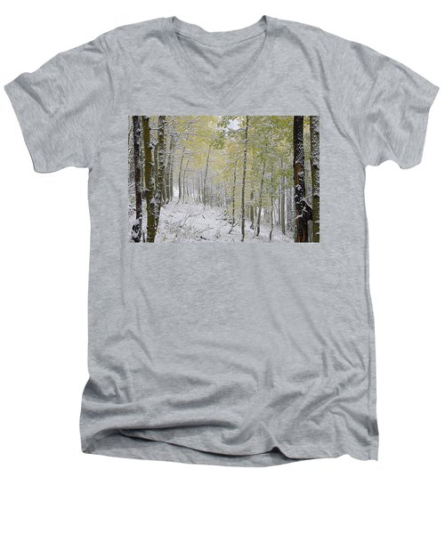 First Snow Fall Men's V-Neck T-Shirt
