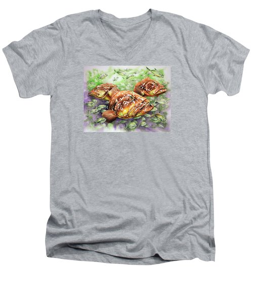 Fish Bowl Men's V-Neck T-Shirt by William Love